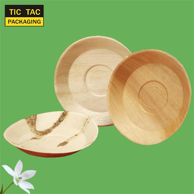 20cm Areca Palm Leaf Ecol/ógico Desechable 8 Plato Cuadrado Paquete De 25