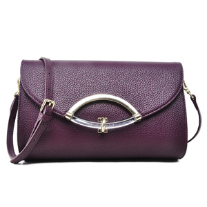 Factory Wholesale Price Elegant Design Fashion Ladies Genuine Leather Clutch Handbag