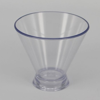 Promotional New Design Long Stem 3oz Clear Plastic Martini Glass