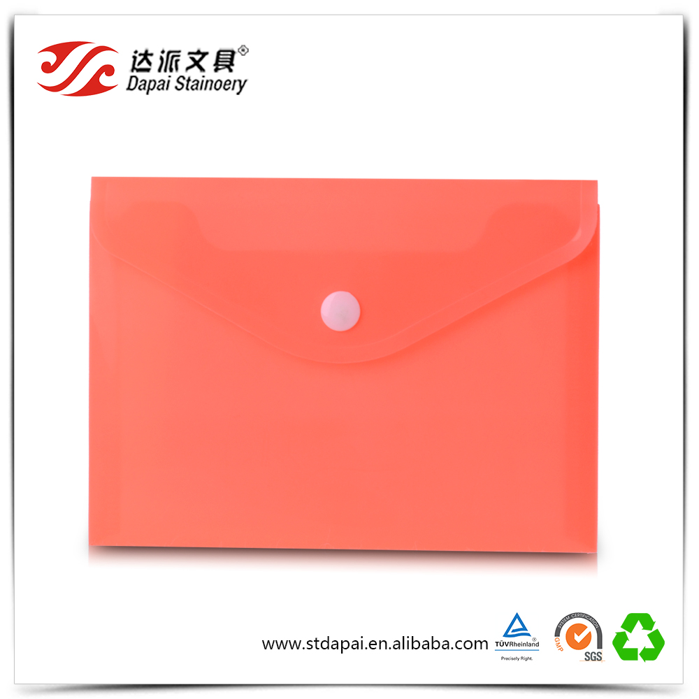 Promotional a4 size decorative presentation pocket file folders printing custom with button