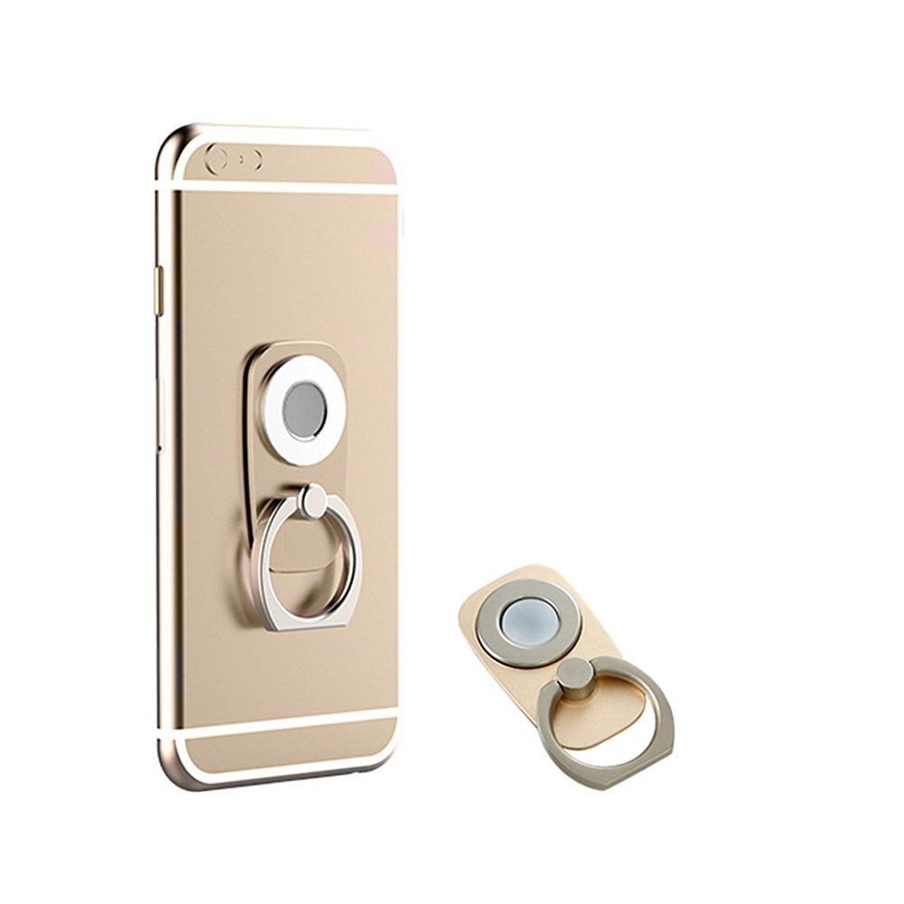 Owoda Universal Cellphone Ring Holder 360 Degree Rotation Holder Anti-drop Phone Ring Stand Finger Grip Kickstend for Magnetic Dash Board Car Mount All Brand Cellphone Tablet (Ring Holder-Gold)