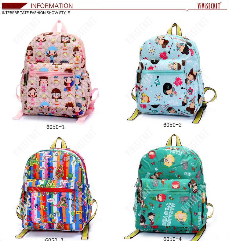 Custom printing baby boys girls cute blue book bag cartoon waterproof backpack  cute kids school bags 2fe1adf495b41