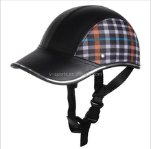 Motorcycle Helmet Baseball Cap Style Plaid Half Open Face Shorty Helmet Safety Hard Hat Anti-UV Helmets cascos para moto 6 Color