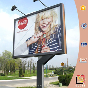 high quality unipole advertising billboard with rotating system