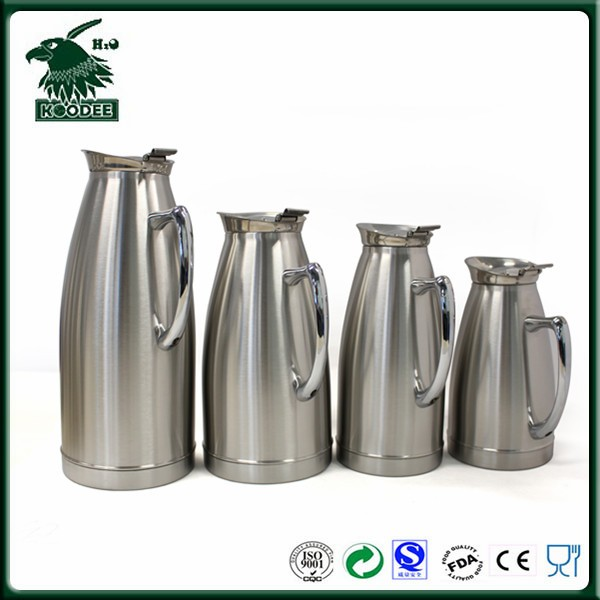 Vacuum Insulated coffee pot and beverage dispenser for Hot and Cold for 24 hours