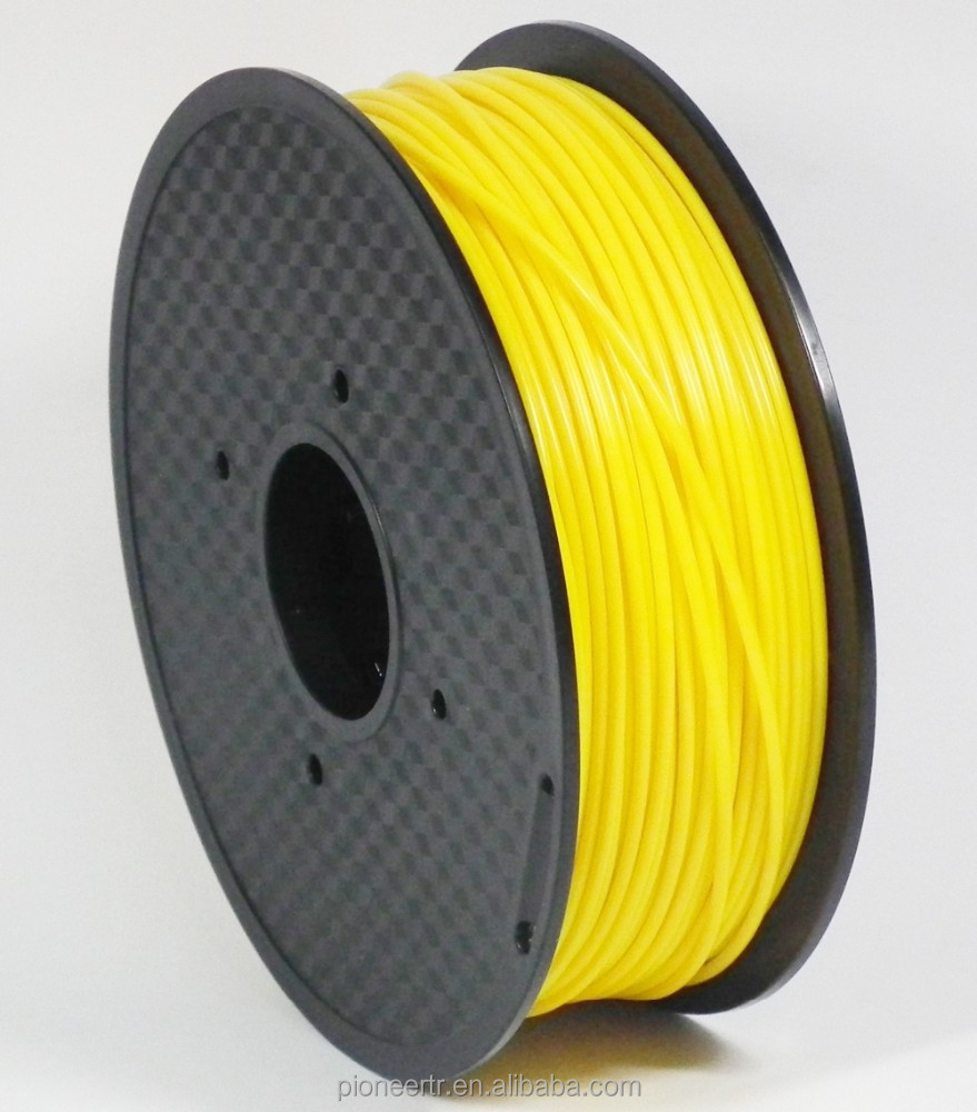 3D printer filament directly factory Big spool <strong>abs</strong> 1.75mm filament dark yellow 1kg