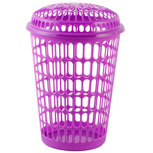 Made In China Round Candy Colored PP Plastic Laundry Basket Handle