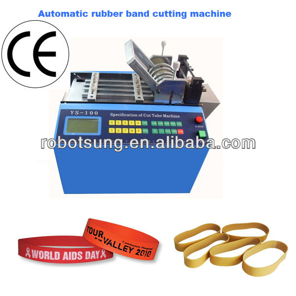 Automatic elastic rubber band cutting machine