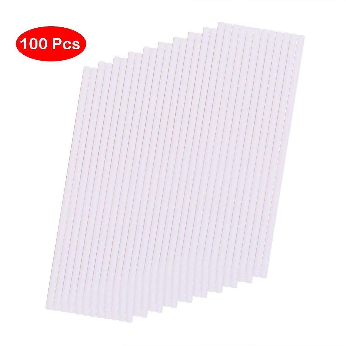 66f8b5eb3a0 Get Quotations · 6 Inch Food Grade Paper Sticks for Lollipop Fondant Candy  Chocolate Baking Tool (100pcs)