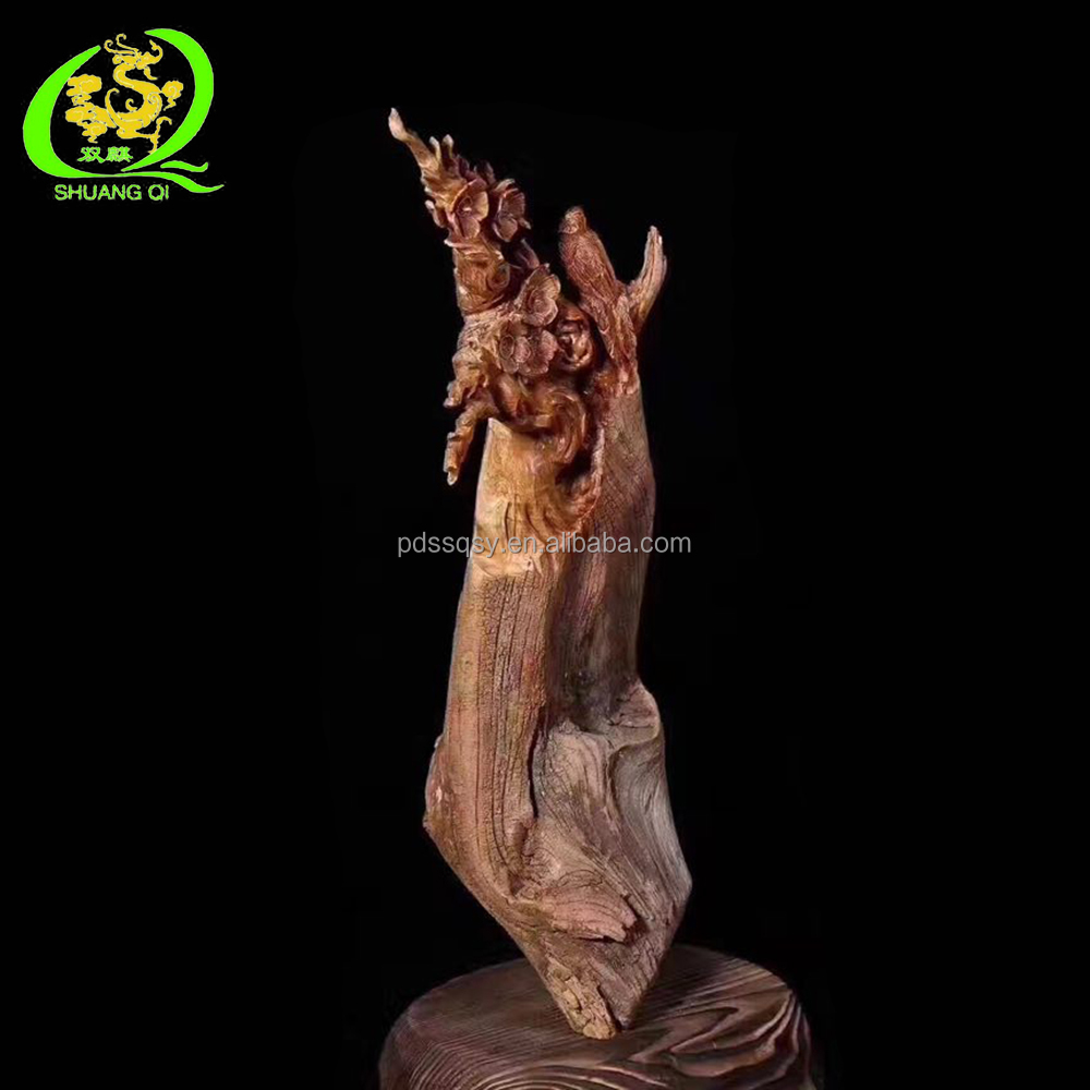 flower with good meaning home decorations and business gitfs decorative wood carving