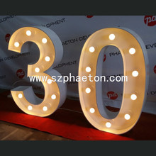 Giant party/birthday supplies numbers sign wedding decoration led 4ft marquee letters