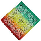 custom 100% cotton large tie dye red printing green yellow red bandana head wrap for men and woman