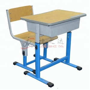china metal frame study desks cheap adjustable student children school tables and chairs