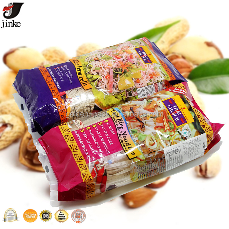 plastic bag for 200g thai rice vermicelli/China flap Bottom Kraft Paper bag nut plastic packaging manufacturer