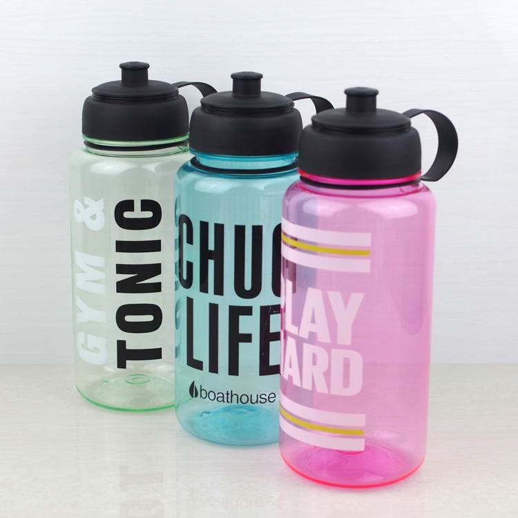Water Bottle In Spanish: 32 Oz Plástico BPA Botella De Agua Libre, 1 Litros Botella
