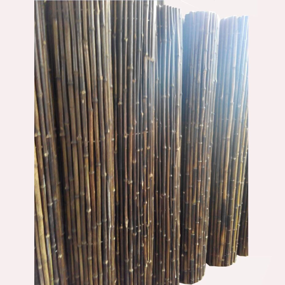 Thick Black Bamboo Cane Garden Screening Roll High Fencing Fence