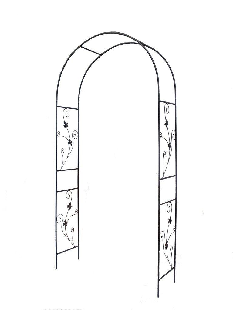 1.Go Steel Garden Arch, 7'5 High x 3'7 Wide, Garden Arbor for Various Climbing Plant, Outdoor Garden Lawn Backyard