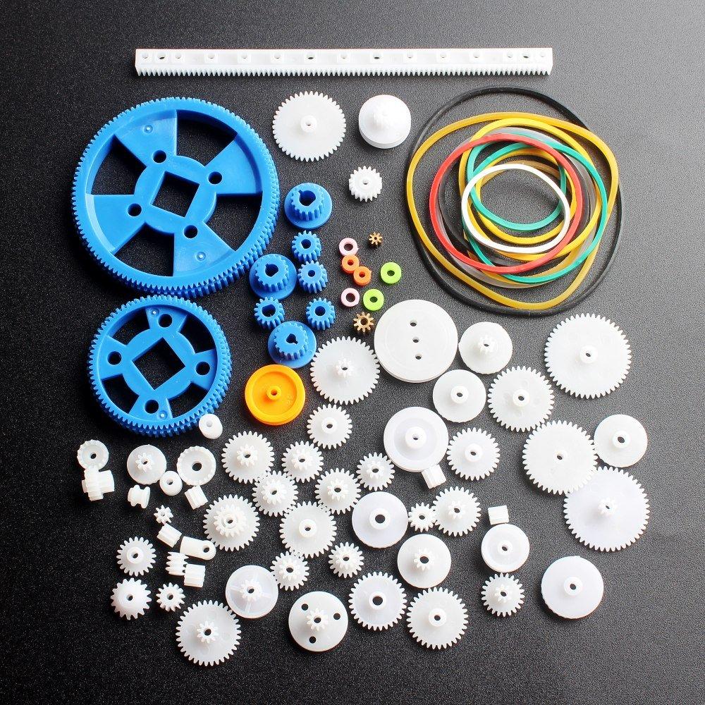 DIKAVS 80 Type Plastic DIY Robot Gear Kit Gearbox Motor Gear Set For DIY Car Robot