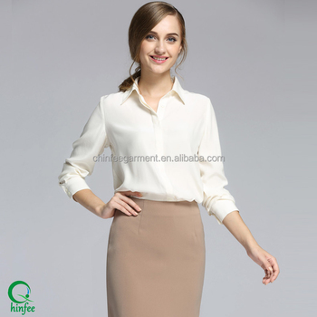 b8fd57a43e7 Ladies White Formal Office Wear Shirts Women Long Sleeve Tops Blouse - Buy  Ladies Formal Shirts,White Formal Shirt,Women Long Sleeve Blouse Product on  ...