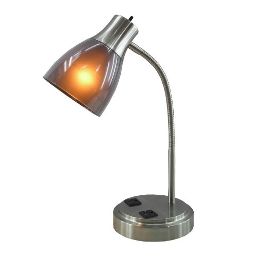 Cheap lamp electrical parts find lamp electrical parts deals on get quotations normande lighting gp3 796 13w cfl desk lamp with two electrical outlets on the base aloadofball Image collections