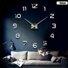 Velké nástěnné nalepovací hodiny na zeď