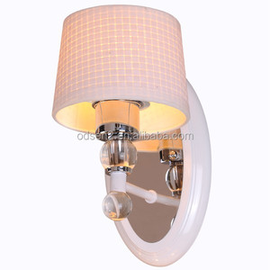delicate fabric camera wall sconce light antique home fixture hotel room lighting design
