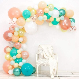 2020 New Pink Latex Confetti Balloon Arch & Garland Kit for Holiday, Wedding, Baby Shower, Anniversary & Party Decorations