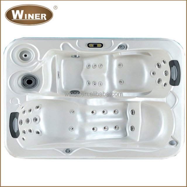 Two Person Corner Tub Part - 42: Indoor Outdoor Freestanding Acrylic 2 Person Corner Spa Two Person  Whirlpool Portable Hot Tub