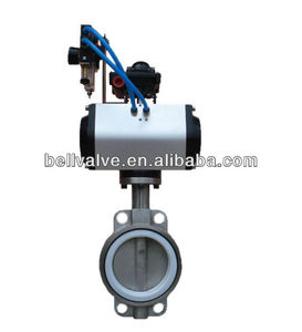 Pneumatic actuator single acting butterfly control valve