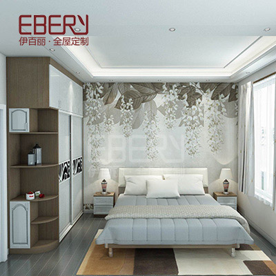 Factory wholesale furniture luxury modular wall bedroom wardrobe
