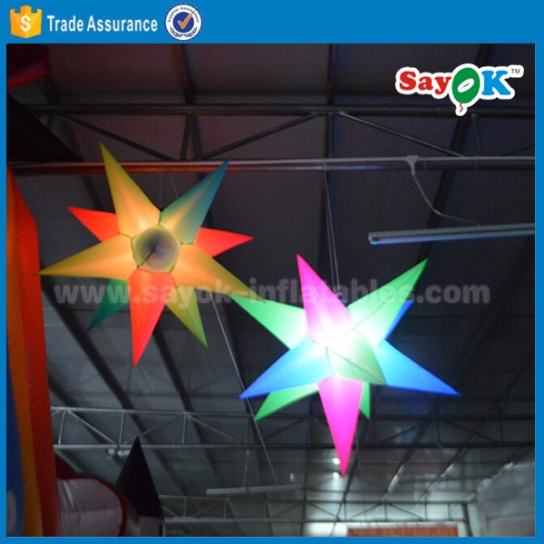 lighting inflatable star new design inflatable star led light night club ceiling inflatable star light