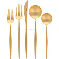 popular Portugal design matte gold cutlery Cutipol GOA