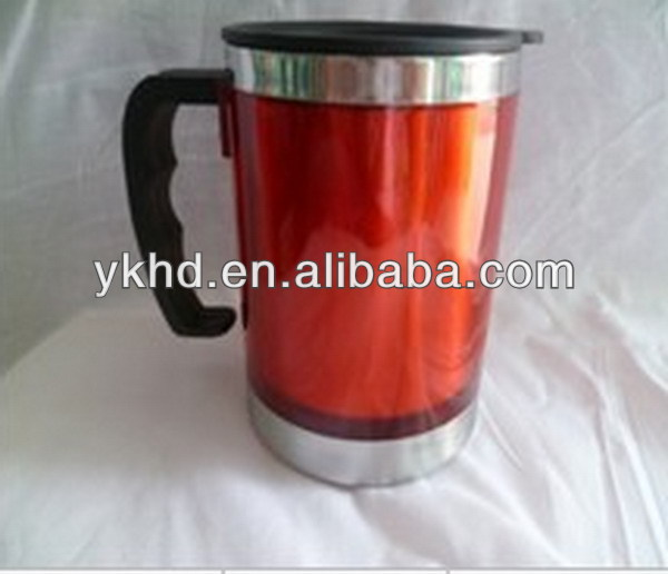 Newest promotional insulated porcelain stainless steel mug
