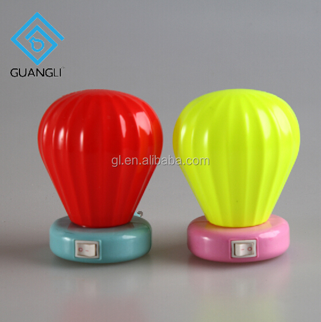 W072 Cartoon cute gifts mini switch balloon LED plug in night light 0.6W AC 110V 220V