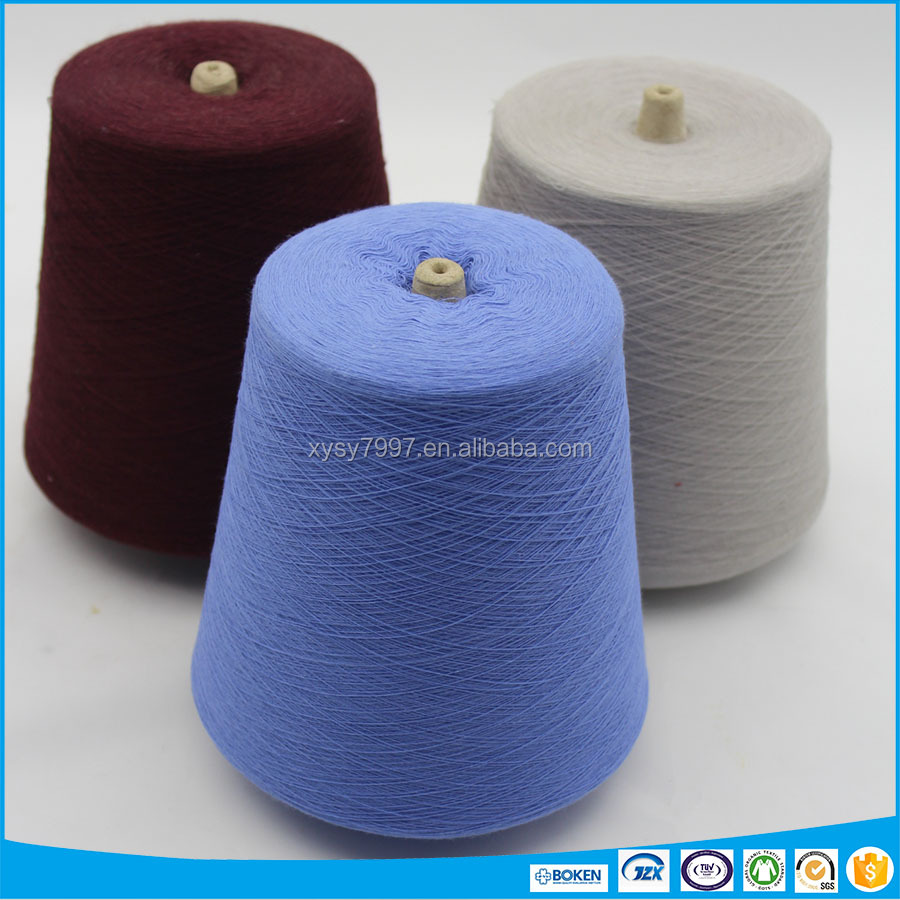 CVC 65/35 cotton and polyester blended dyed yarn