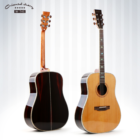 Custom global handmade top solid factory wholesale acoustic guitar for sale with high quality