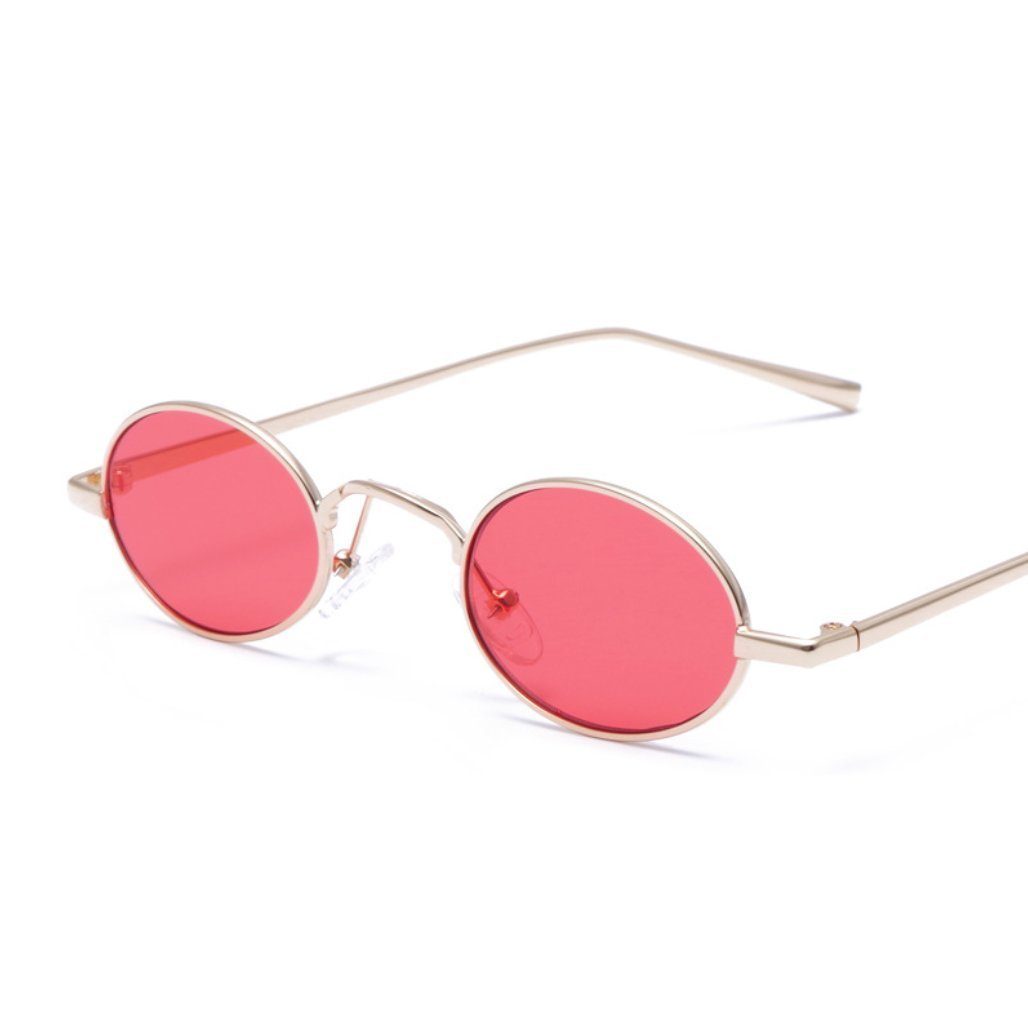 CUIYAN Retro Personality Square Sunglasses Europe and America Color Glasses New Metal Sunglasses (Color : 2)