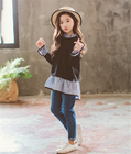 China Wholesale Cute Kids Wear Pictures Children Clothing Girls Sets Of 2 Piece Clothes Hange