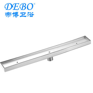 DIBO Company Bathroom Accessories Stainless Steel Bathroom Drain with End Outlet Pipe