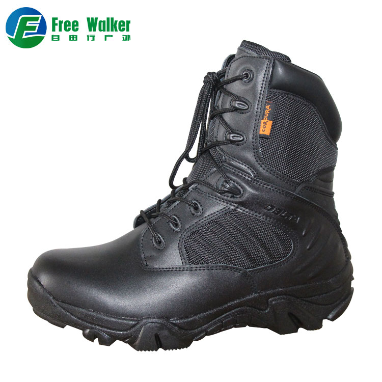 china factory men black swat tactical military leather combat <strong>boots</strong>