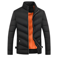 in stock high quality polyester thicken thermal men parkas latest design winter men's coat