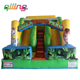 2017 Jungle inflatable dry slide for kids party,jungle park indoor mini slide for sale