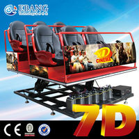 Ebang Popular new style Mobile 8 seats 7d motion movie theater