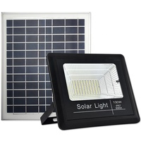 100W hot sale garden wall solar powered security lights outdoor motion detector led solar flood lights
