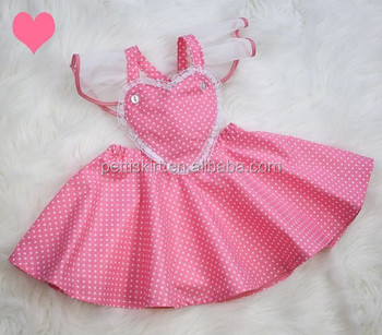 2aa2c1f66037 Hot Pink Cotton With White Polka Dot Dresses 3 Years Little Baby ...