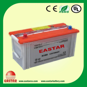 price of dry charged car auto automotive starter battery N100 100ah 12v dry battery for starting car