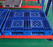 Factory Warehouse Storage Heavy Duty Steel Pallet Sackable Double Sides HDPE Plastic Pallet for Sale