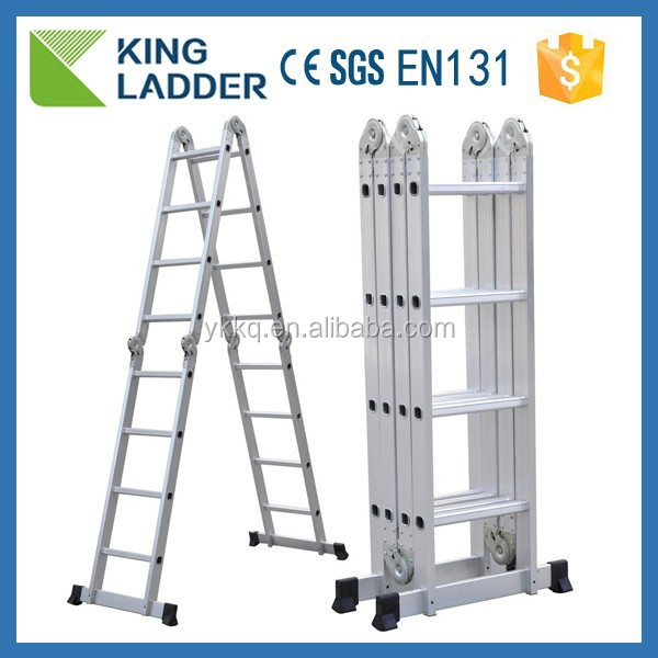4x4 Step Ladder MULTI PURPOSE 4.7M ALUMINIUM FOLDING PLATFORM WORK STEP LADDER