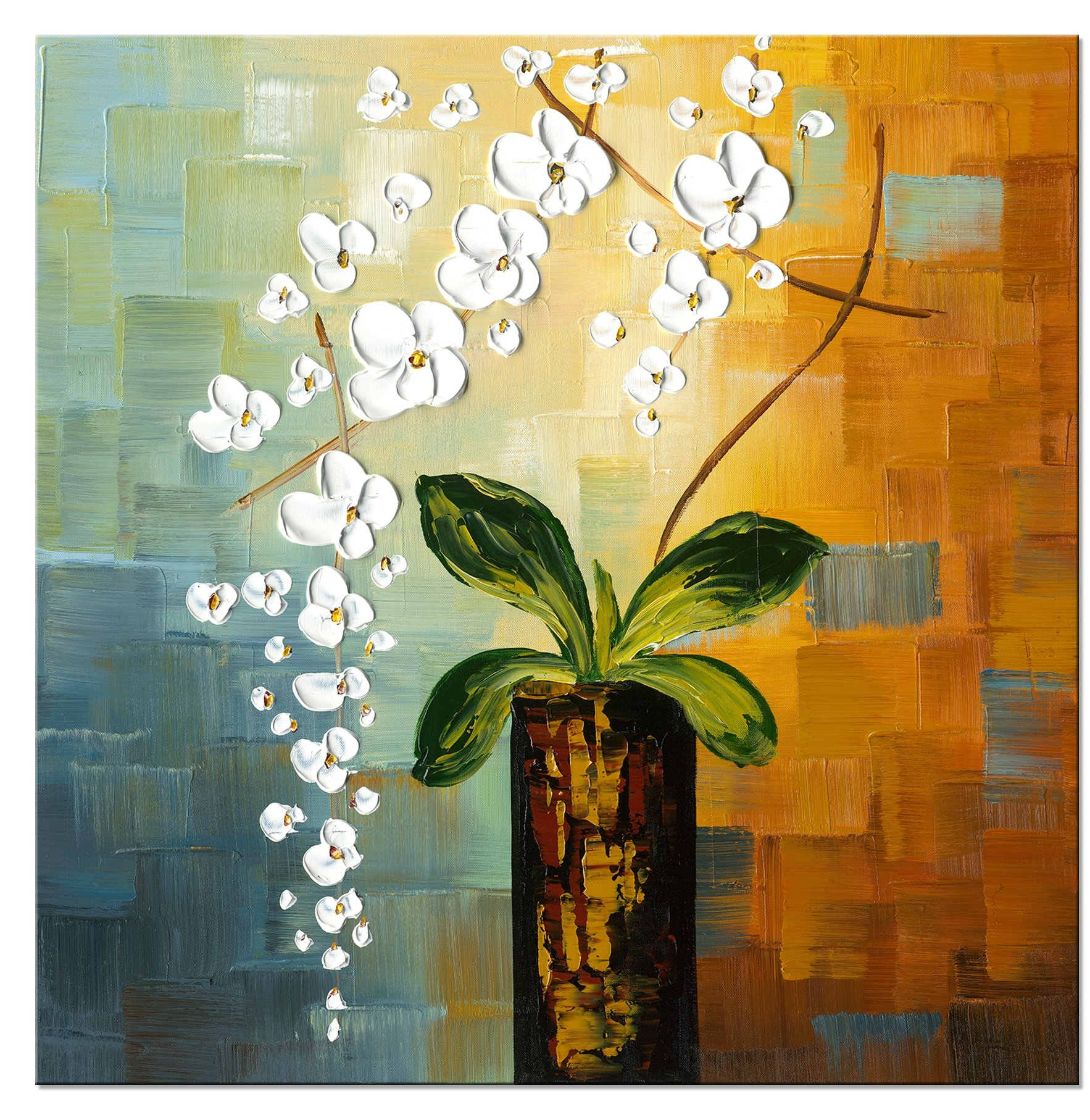 Buy Hand Painted Oil Painting The Snow Flower-Floral Oil Painting ...