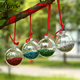 Dia6cm Clear Glassballs Christmas Ornaments Decoration With Glitter Decor Glass Pendants Event Wedding Party Glass Ball SSD124